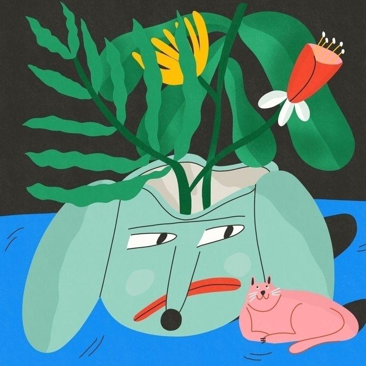 Green leaves stories - illustration - elenaeper | ello