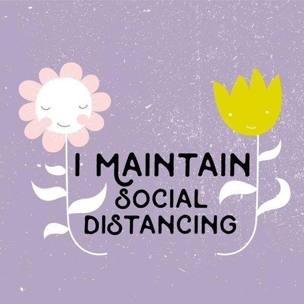 Stay home! Maintain social dist - pinknounou | ello