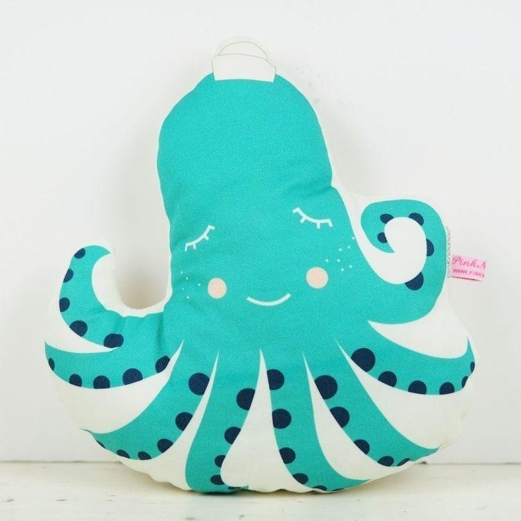 pinknounou, pillow, cushion, octopus - pinknounou | ello