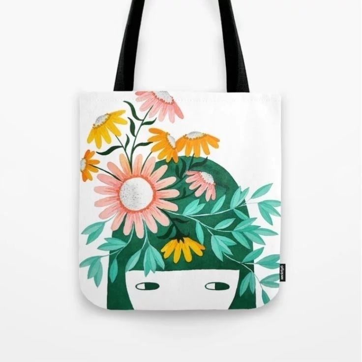 pinknounou, totebag, bag, illustration - pinknounou | ello