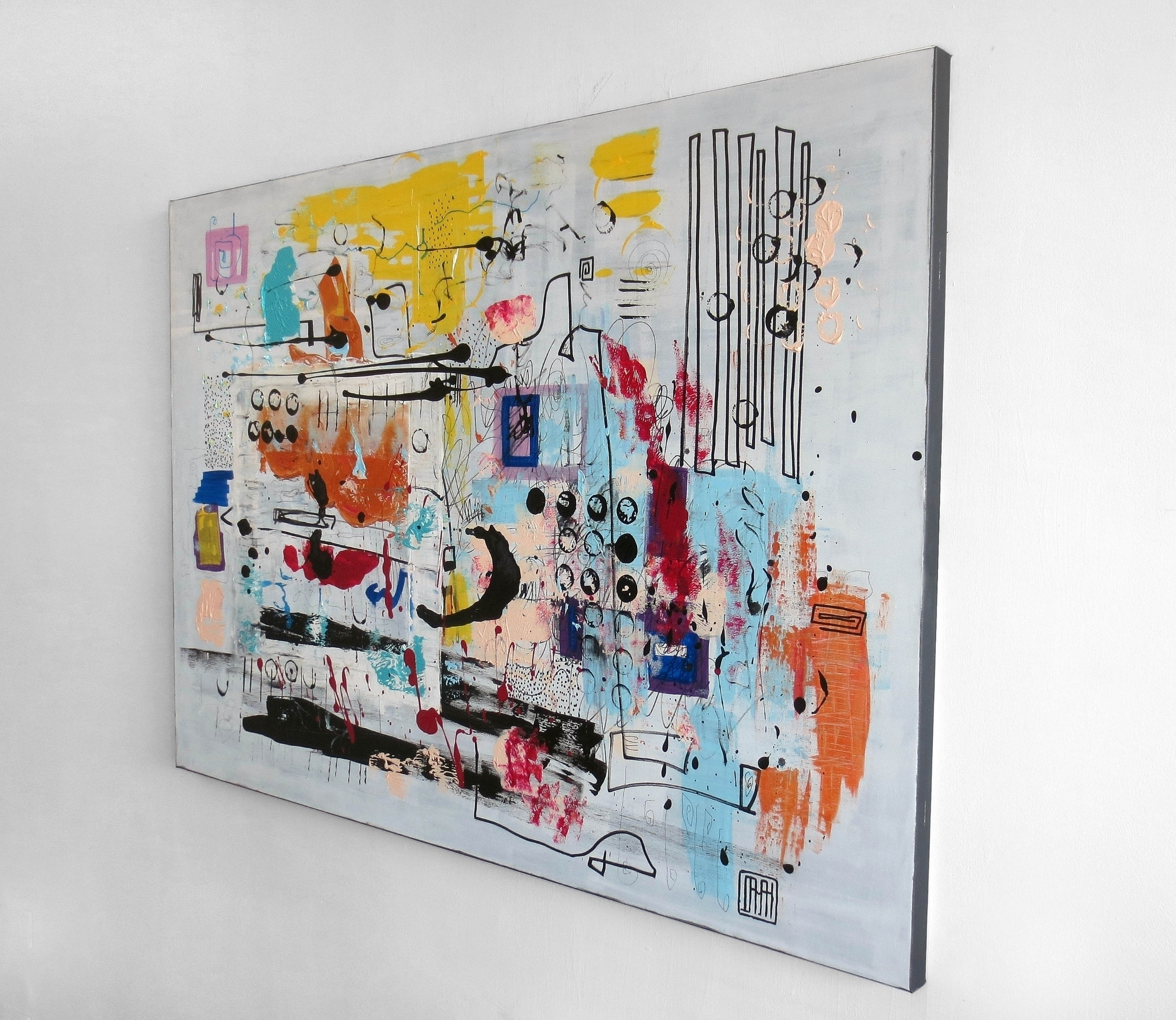 sold A89 acrylic canvas 100x140 - damianpavlovic | ello