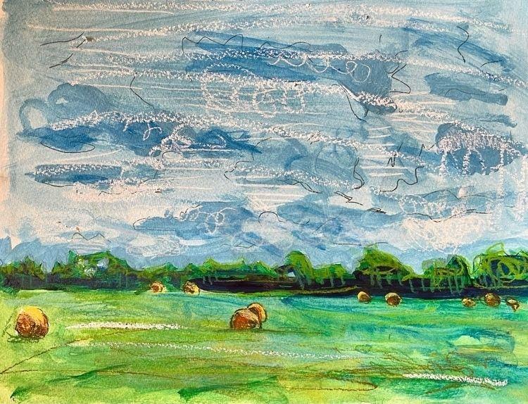 horses; gouache, crayon, chalk - sarahfrancishollis | ello