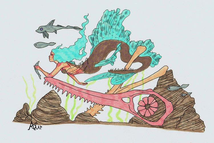 Prehistoric fantasy. Colored sk - aotar-le-quaint   ello