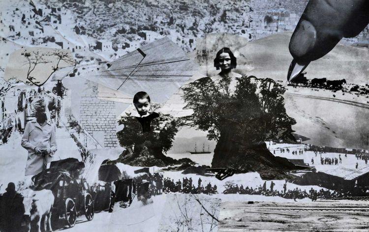 Hand 36 23 cm Paper Collage Car - lane_collage | ello