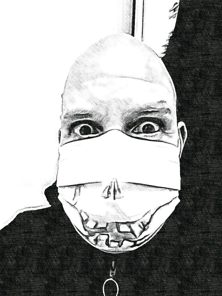 mask, pen, times lost colours ^ - cali_23h23 | ello