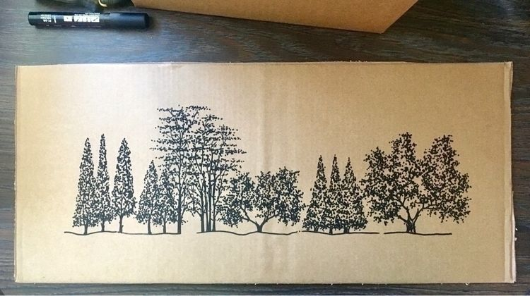 Ink cardboard. RCB_2020. pieces - ricardo_caillet-bois | ello