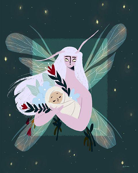 newborn child faerie realm left - joyandnoelle | ello