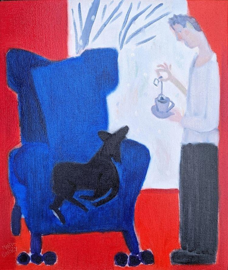 Tea oil/canvas/board, 19x16 - markbarry   ello