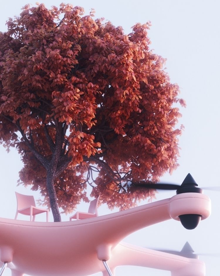 Autumn escape - pink, surreal, landscape - umbertodaina | ello
