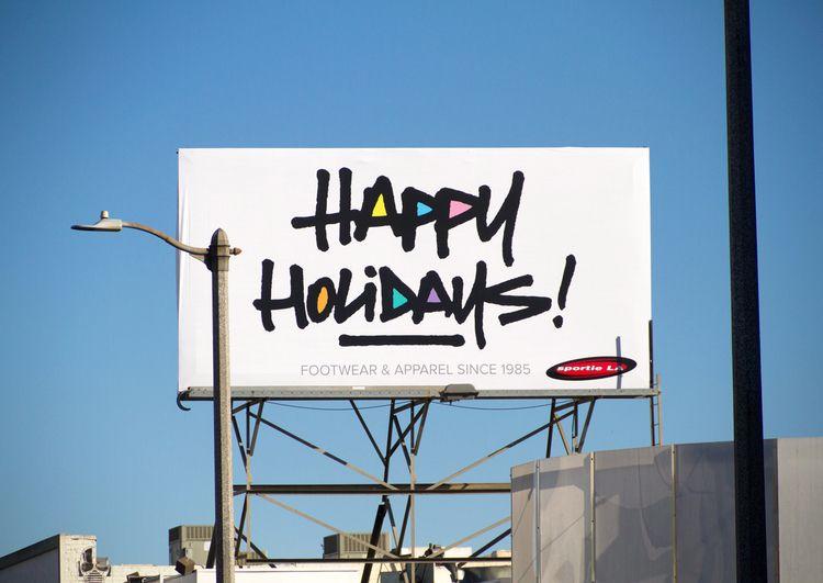 Happy Holidays billboard design - theartofchase | ello
