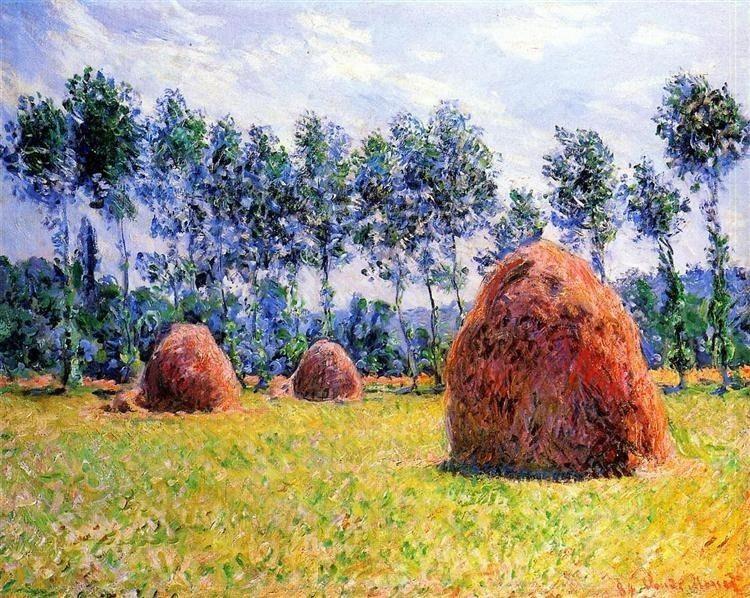 Haystacks Giverny, 1884 Claude  - torchsongs   ello