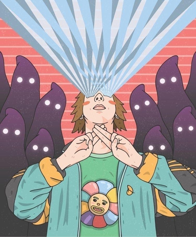 Laser Beam Ghosts  - illustration - devilishkids | ello