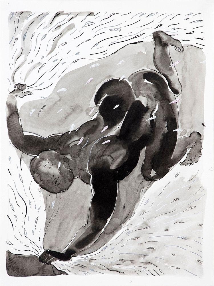 Seeker (2018) Ink paper // 16 × - yqin_art   ello