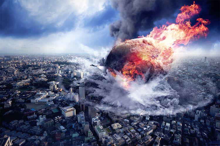 Meteor surreal-art ilustración  - marcoescobedo | ello