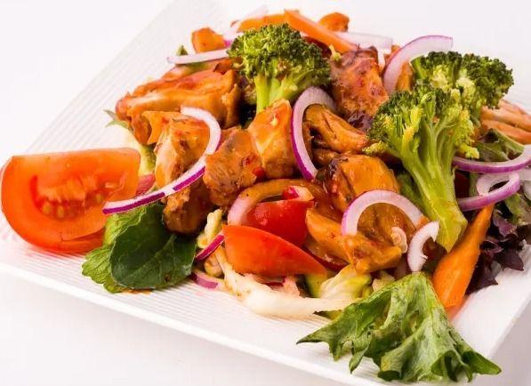 Chicken, Lettuce, Cucumber, Oni - thefkc | ello