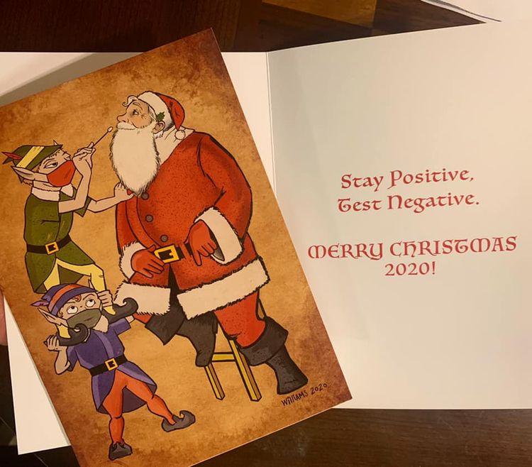 illustrated card Christmas 2020 - briantravis   ello