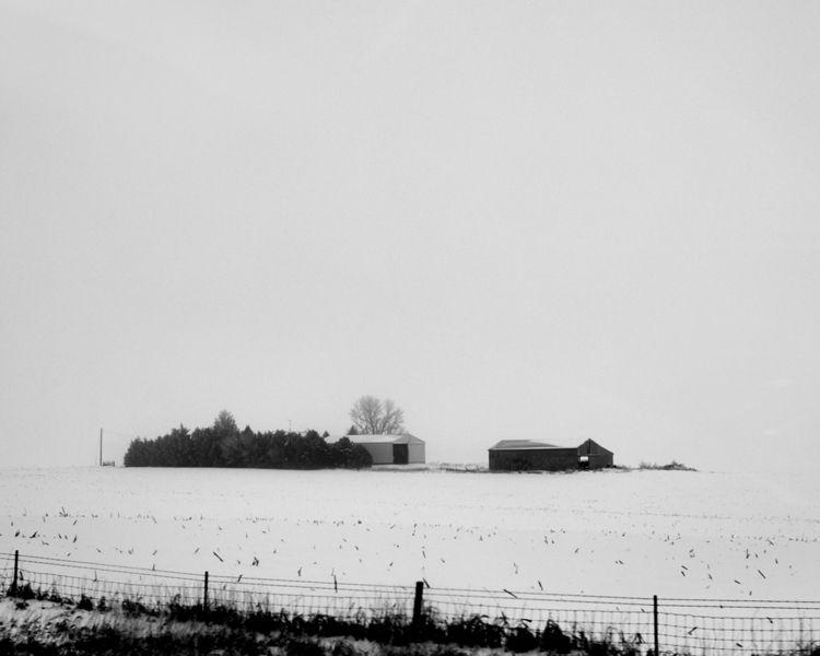 Farm snowy field shot I88 Iowa  - junwin | ello