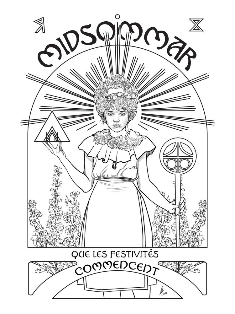 poster year - illustration, midsommar - joelherreraart   ello