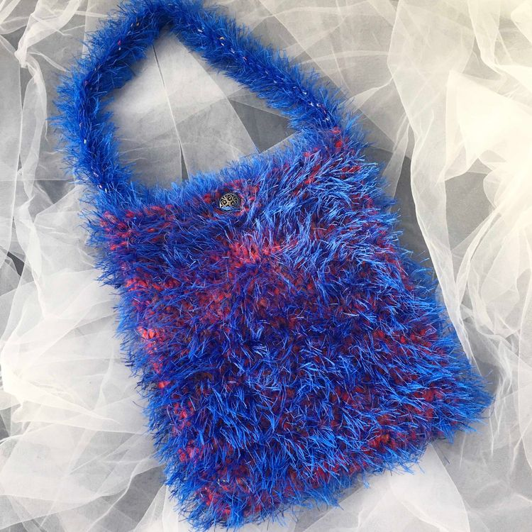Unique knitted shoulder bag - wenyyc   ello