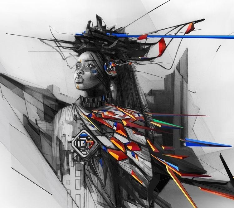 series portraits depicting wome - alexismarcou | ello