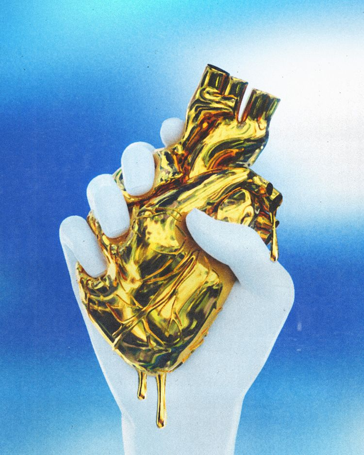 heart pure gold Prints - tuomodesign - tuomodesign   ello