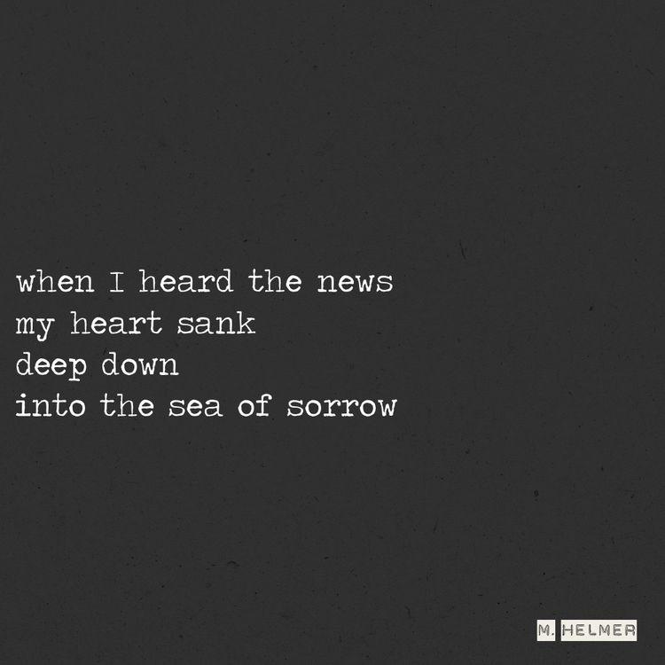 Bad news, baby. 4/2021 - poetry - helmer_poetry   ello