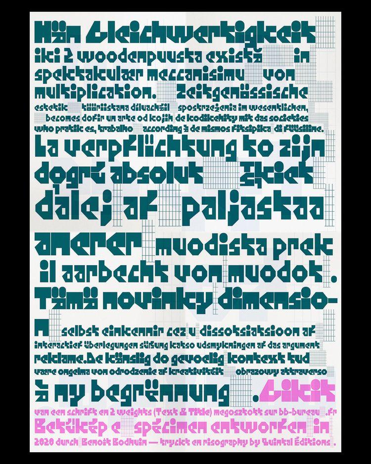 Gikit specimen - typography - bb-bureau | ello
