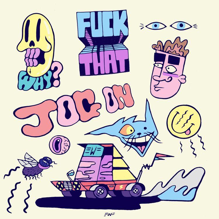 illustration, doodles, sketchbook - eastworthingsfinest | ello