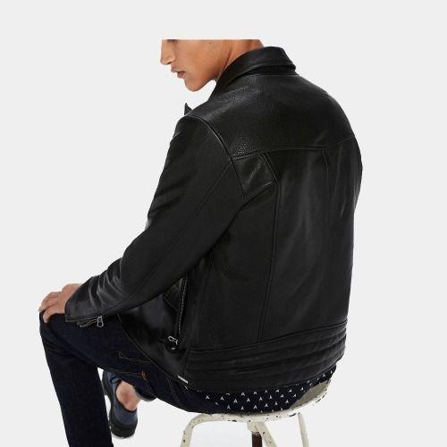 Black Leather Biker Jacket Pric - mrstyless   ello