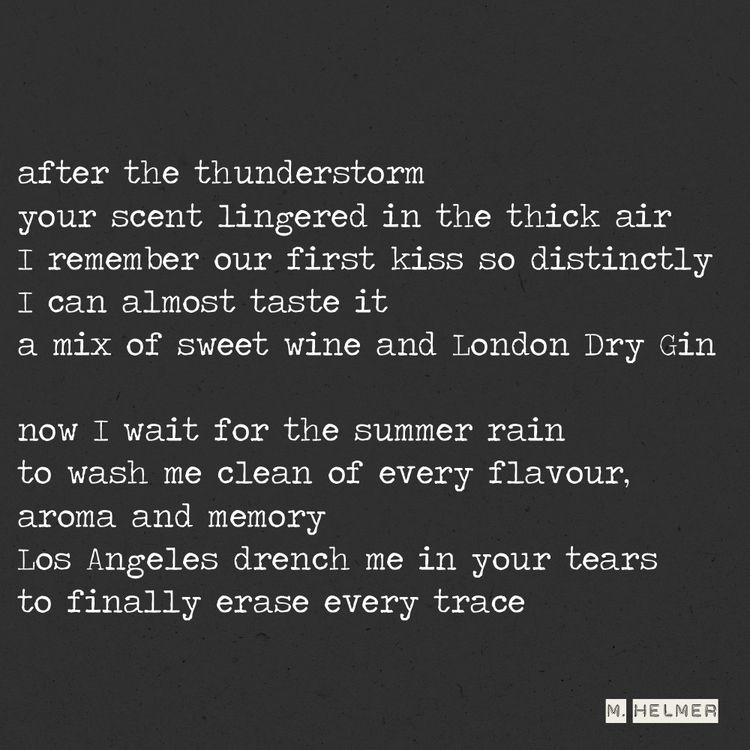 Rain pouring drowning. 5/2021 - poetry - helmer_poetry   ello