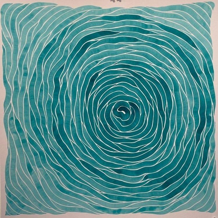 24x24in. Watercolor 1-28-2021 - synd3tic | ello