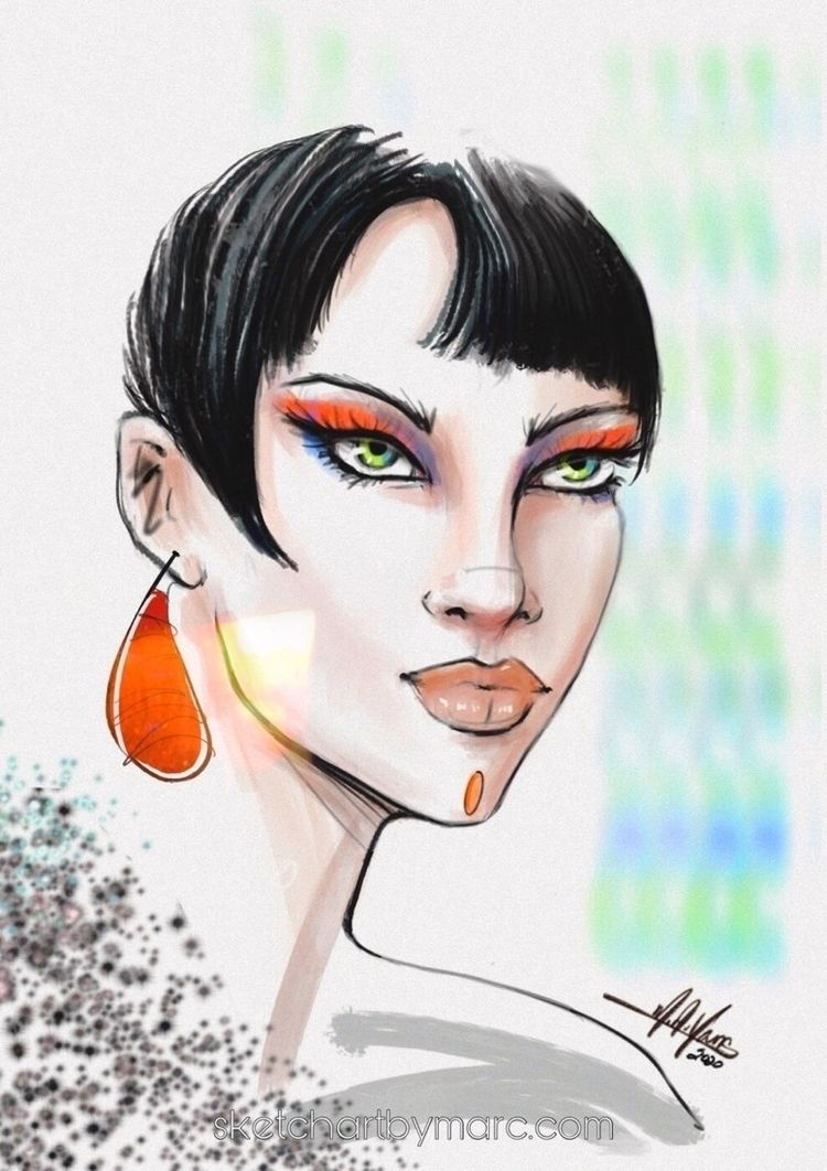 Variations - sketch, fashionface - sketchartbymarc | ello