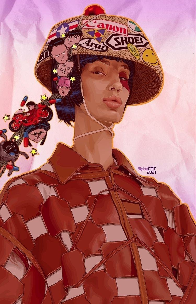 Akira Girl Neo-Tokyo Refugee - llustration - alphacmt | ello