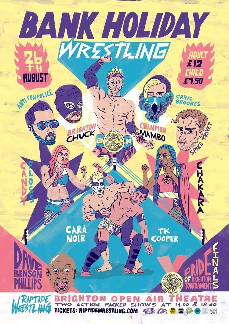 Riptide Wrestling poster events - eastworthingsfinest | ello