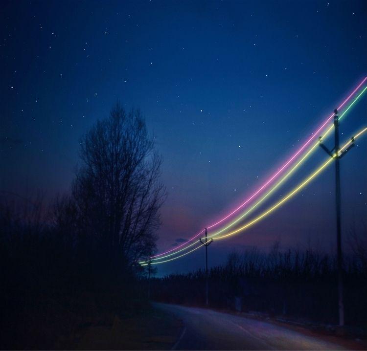 midnight drive - neon, line, ello - riazhassan   ello