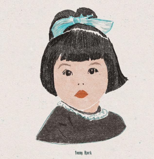 Baby Bjork - art, illustration, drawing - zoe_vadim   ello