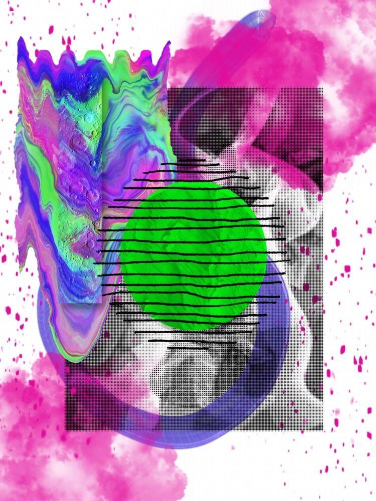 Textured - collage, digitalart, print - jasminpelz | ello
