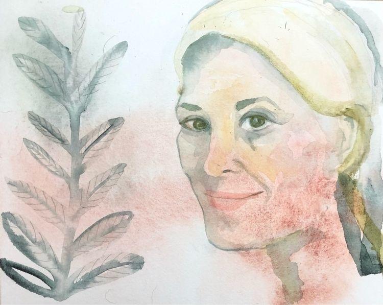 friday - watercolor, paper, portrait - vasagatan | ello