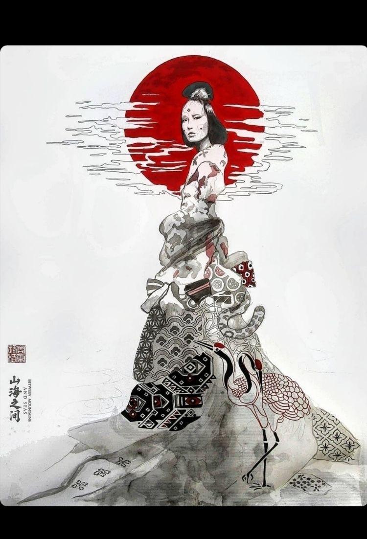 Xiwang Mu / 100cm 150cm ink Ita - lukegrayart | ello