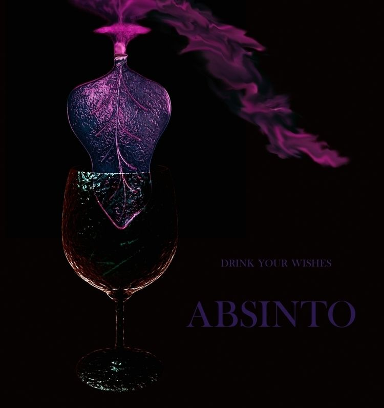 ABSINTO - drink wishes - 3dmodeling - lucianalancaster   ello