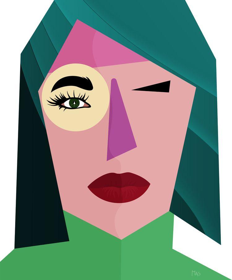 Picasso, illustration, profile - masgraphicdesign | ello