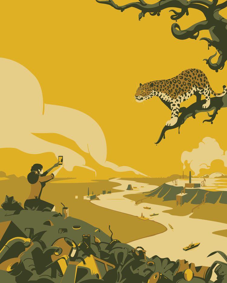 meeting - leopard, ecology, drawing - parkol   ello