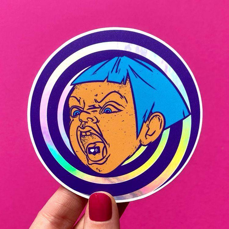 Holographic stickers «21th cent - chuvardina   ello