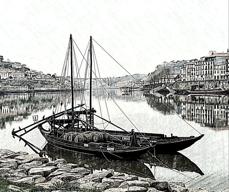 Traditional port wine boat. Por - snowfinch | ello