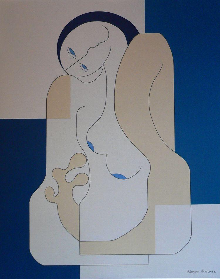 Female Blues 100cm 80cm 4cm can - hildegardehandsaeme | ello