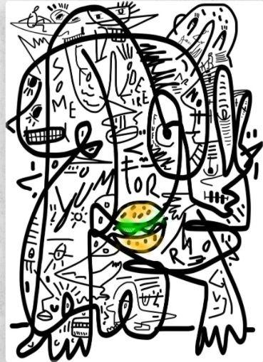 Lines (Hamburger - lineart, linedrawing - lopesdafonseca | ello