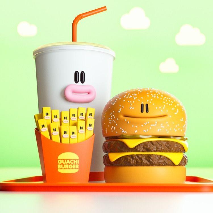 Guachi Burger :hamburger::fries - zergestus | ello