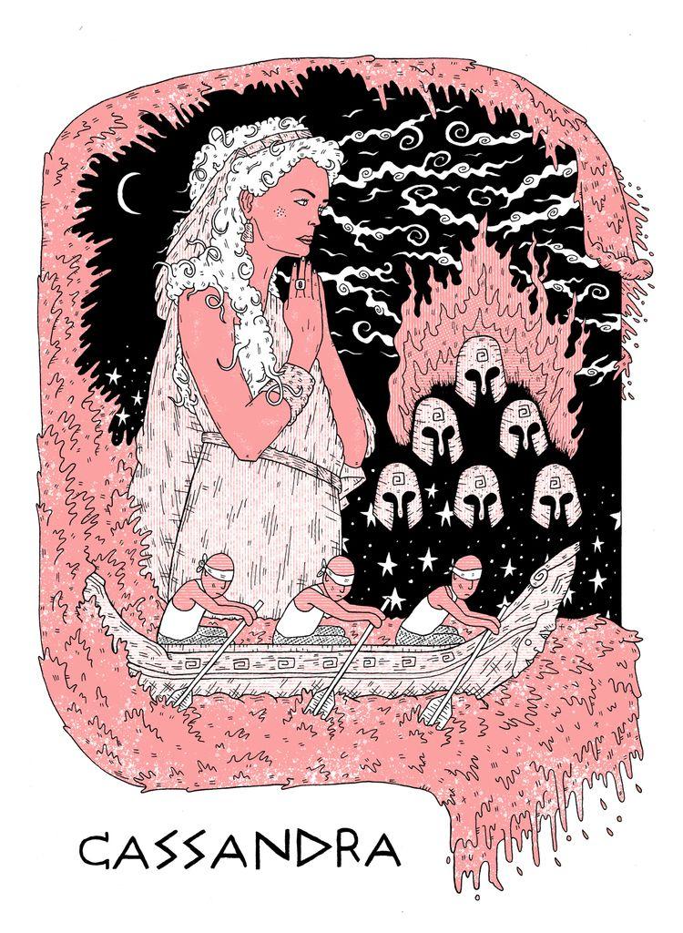 CASSANDRA Trojan priestess Gree - tony_jayco | ello
