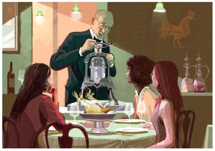 series articles 'Restaurants Sh - alexgreendraws | ello