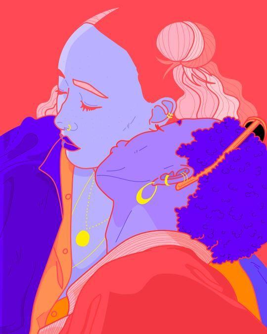 Kiss avaidable - illustration, love - resalami | ello